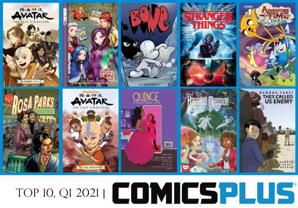Top 10 Titles in Comics Plus Q1 2021
